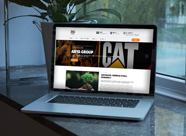 طراحی سایت شرکت آریا گروپ